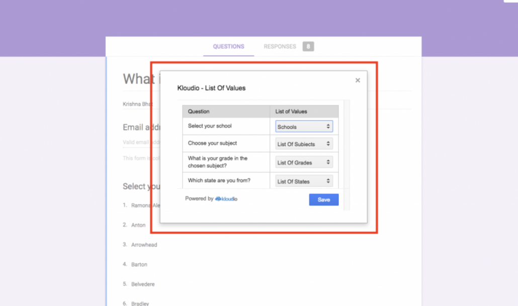 google forms add ons